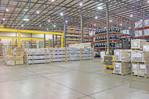 The storage section of the warehouse of distribution and logistics services provider Days Distribution & Logistics in Elkhart, IN