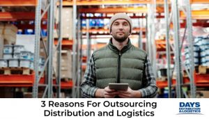 Happy person outsourcing distribution and logistics.
